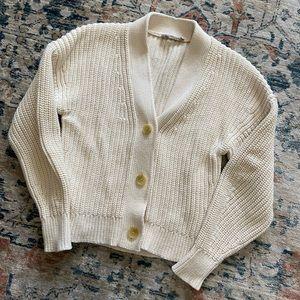 Everlane Texture Cotton Crop Cardigan